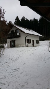 huis nr 34 in de winter